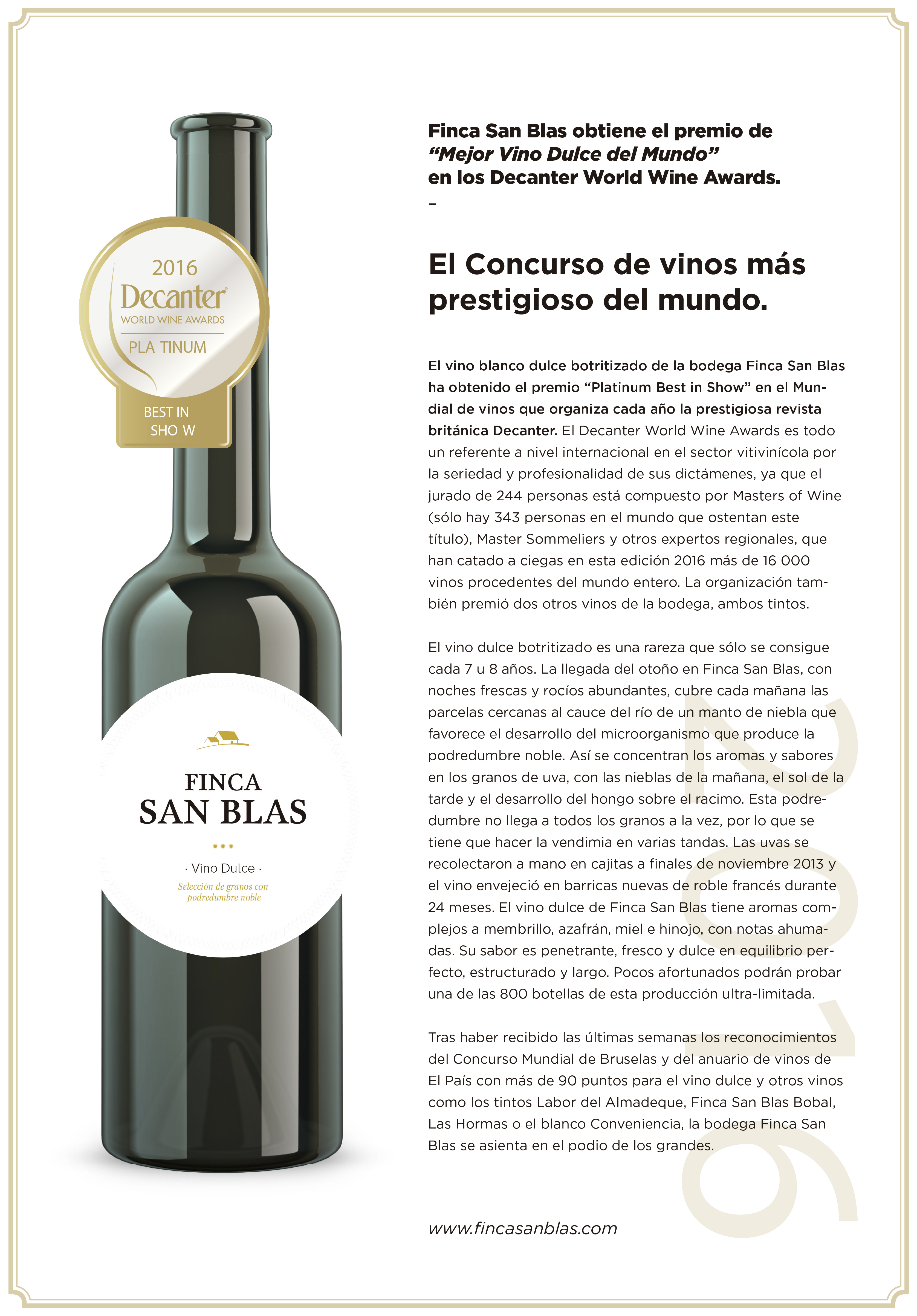 FSB PREMIO DULCE 13 DECANTER
